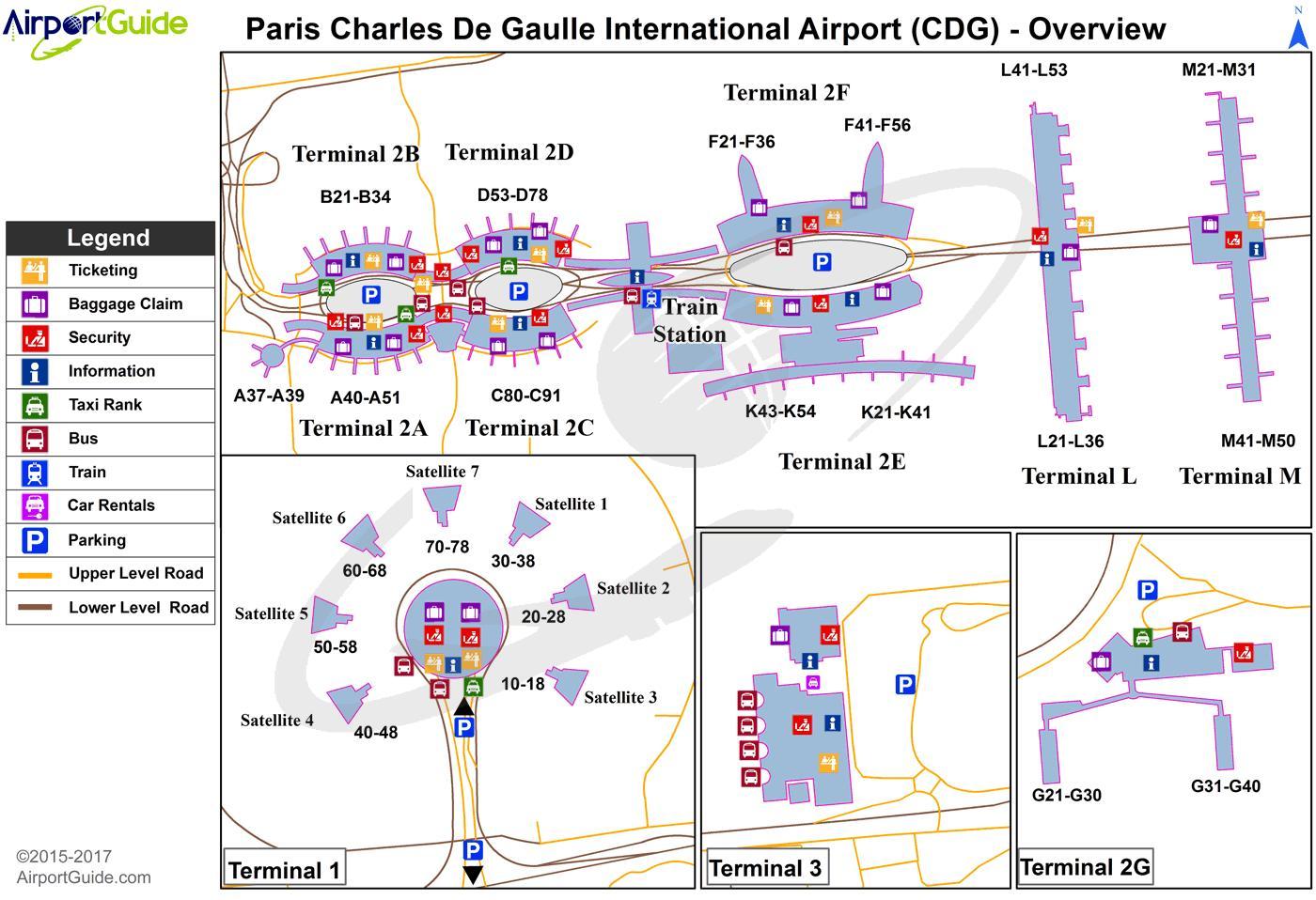 Charles De Gaule Airport Map Cdg airport terminal map   Charles de gaulle airport terminal map
