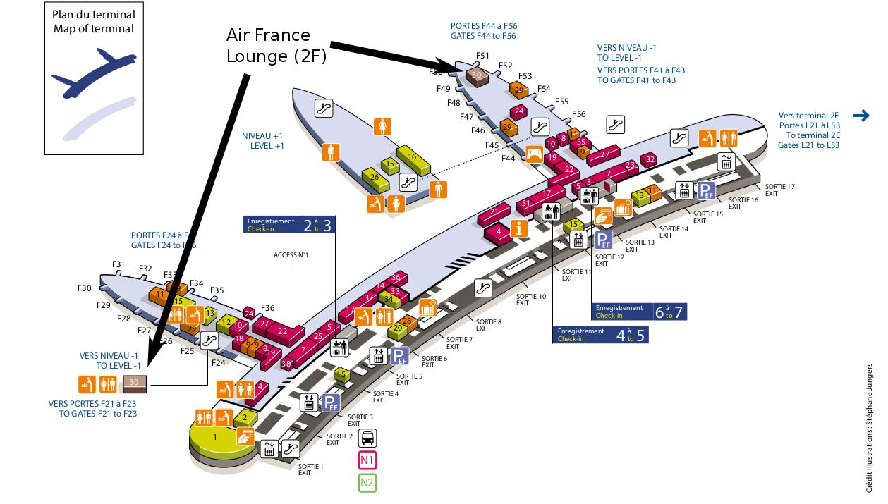 Cdg terminal 2f map - Charles de gaulle airport map terminal 2e to on