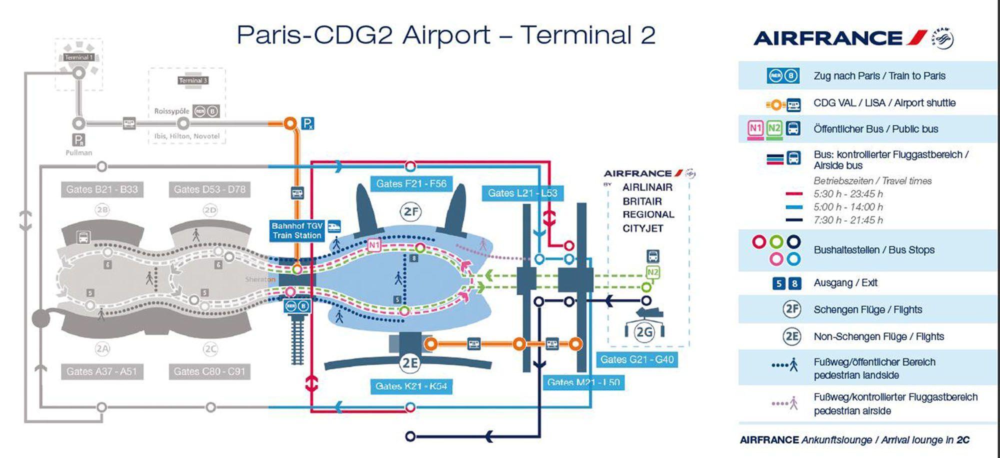 Charles de gaulle airport map terminal 2 - Terminal 2 map ...