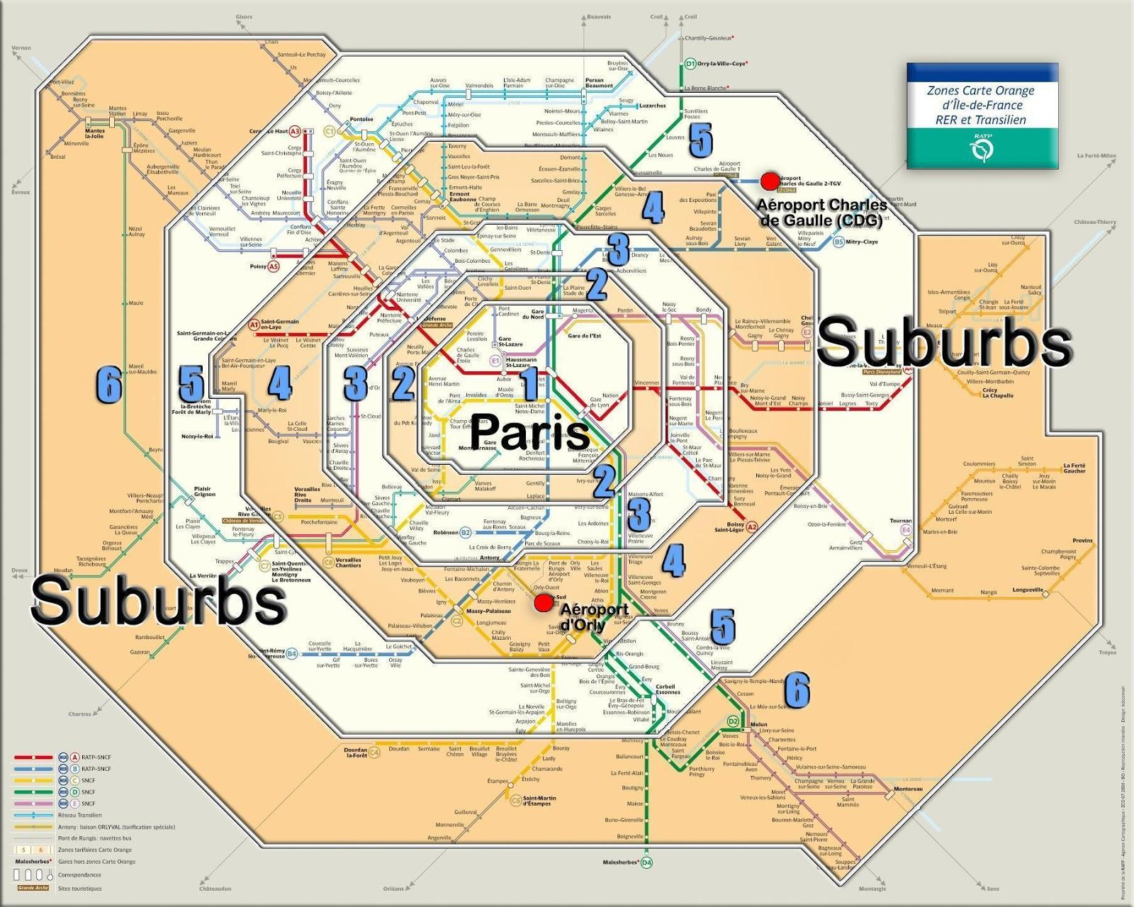 Map Of France Zones.Paris Zone Map Paris Zone 1 Map Ile De France France