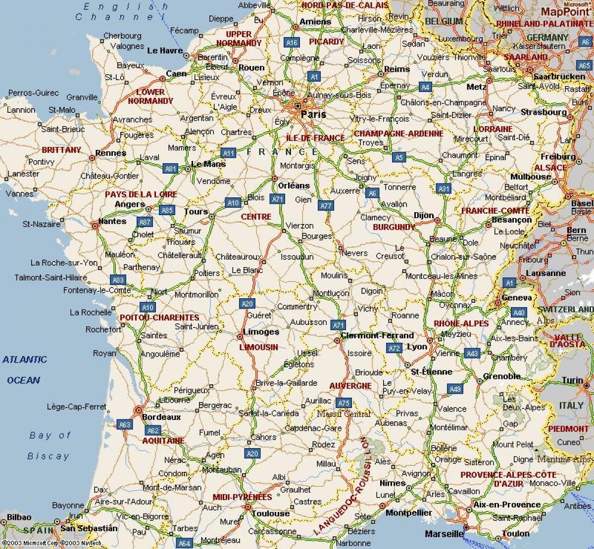 A4 Map Of France.A4 Map Of France Map Of A4 France Ile De France France