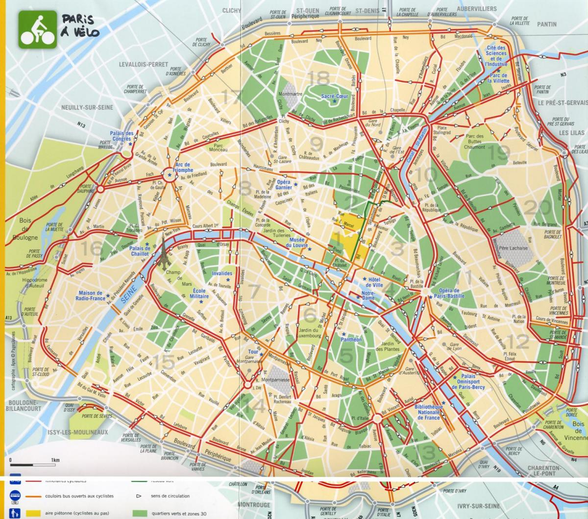 Map of best Paris