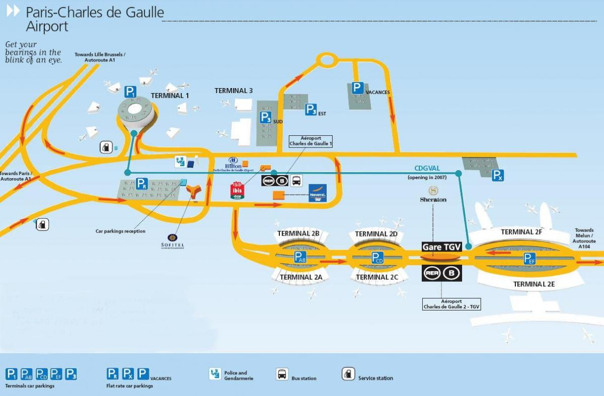 charles du gaulle airport map