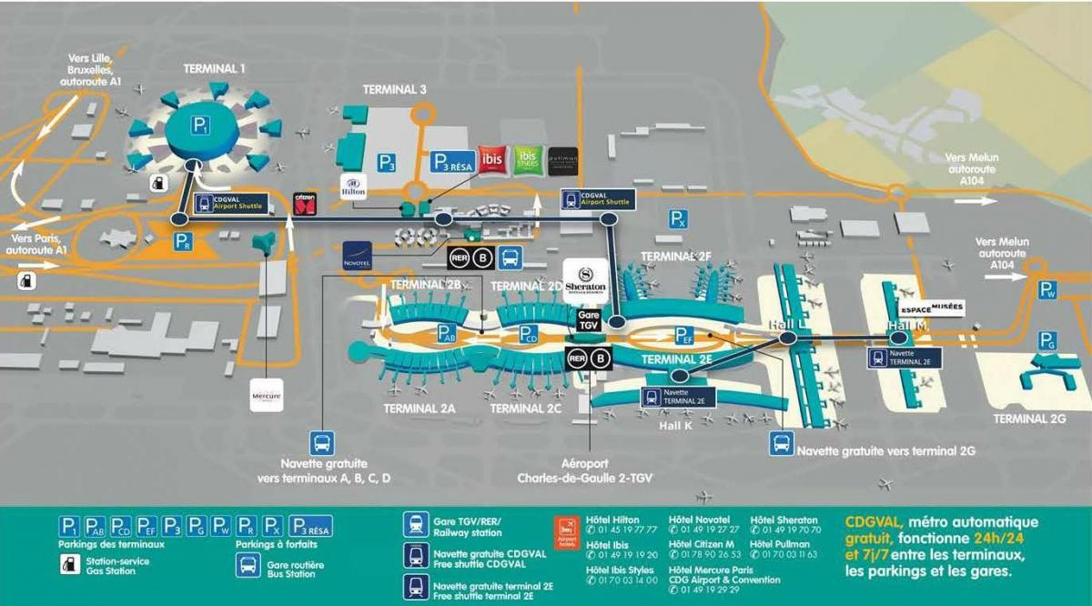 Paris cdg terminal map