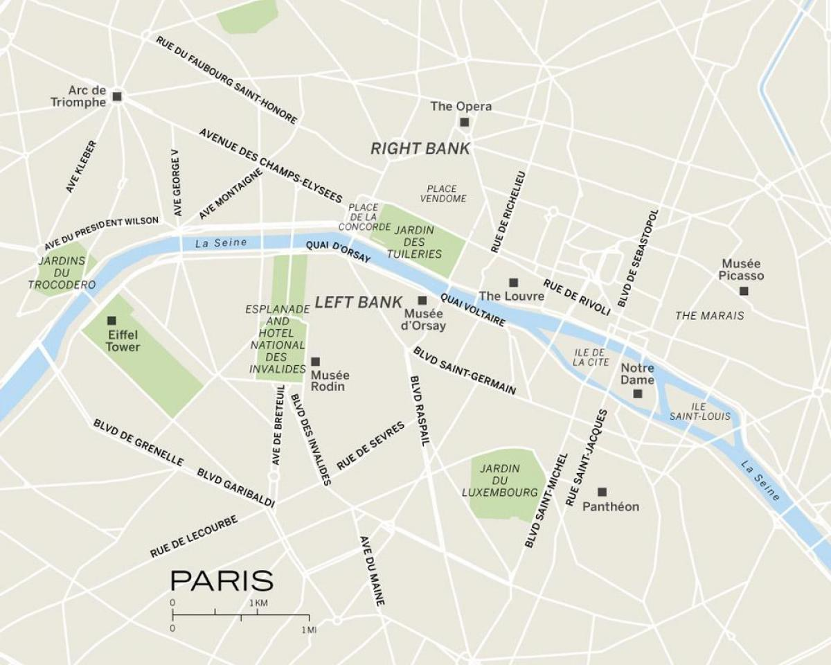 Map of Paris and surrounding cities