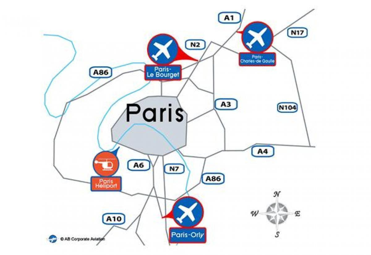 Paris international airport map