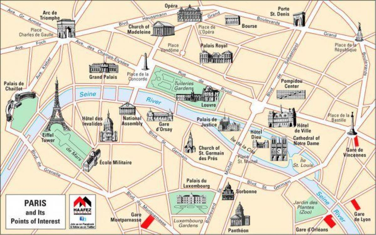 Map of Paris churches