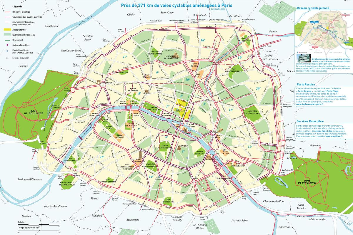Map of Paris route