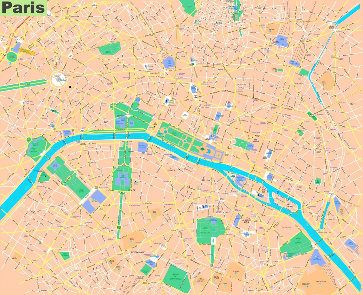 street map of Paris France