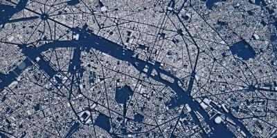Map of aerial Paris