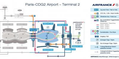 Charles de gaulle terminal 2 map