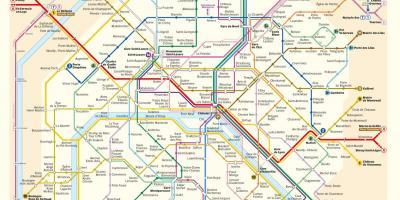 Paris map - Maps Paris (Île-de-France - France)