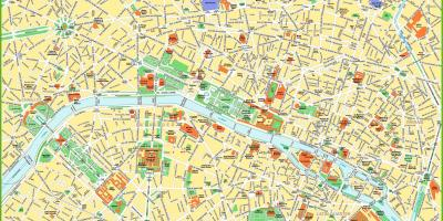 Detailed map of Paris