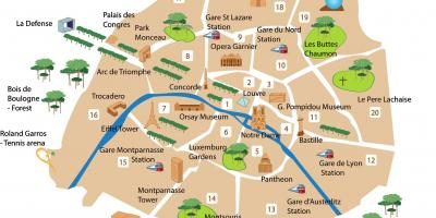 Map of montmartre shopping