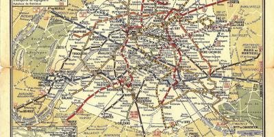 Map of old Paris metro
