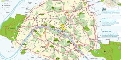 Paris bike routes map