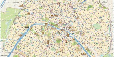 Paris bike share map