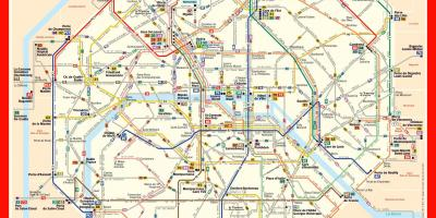 Map bus Paris