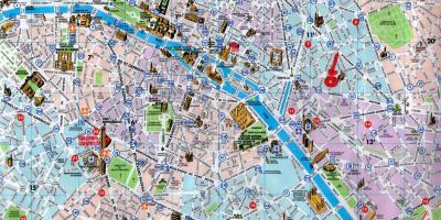 Paris city map with tourist attractions