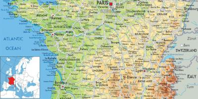 Map of Paris country