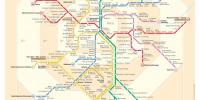 Rer and metro map