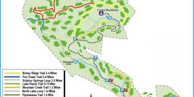Map of Paris mountain state park