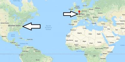 Paris on world map - Paris location on world map (Île-de ...