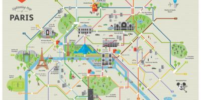 Places to visit Paris map