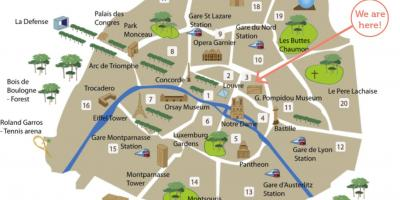 Paris places of interest map