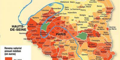 Map of Paris and suburbs