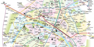 Map of things to see in Paris