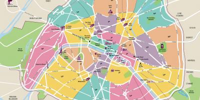Paris visitor map