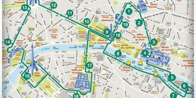 Paris walking tour map