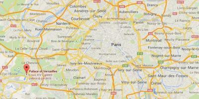 Map of versailles Paris