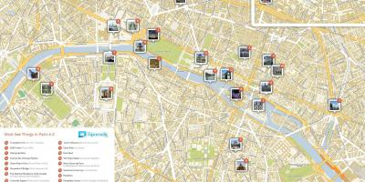 Map of walking Paris attractions